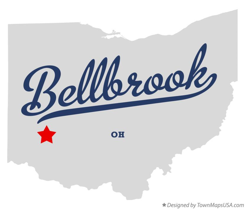 Map of Bellbrook Ohio OH