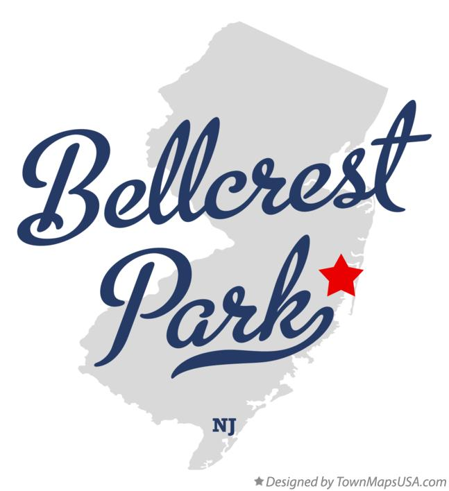 Map of Bellcrest Park New Jersey NJ