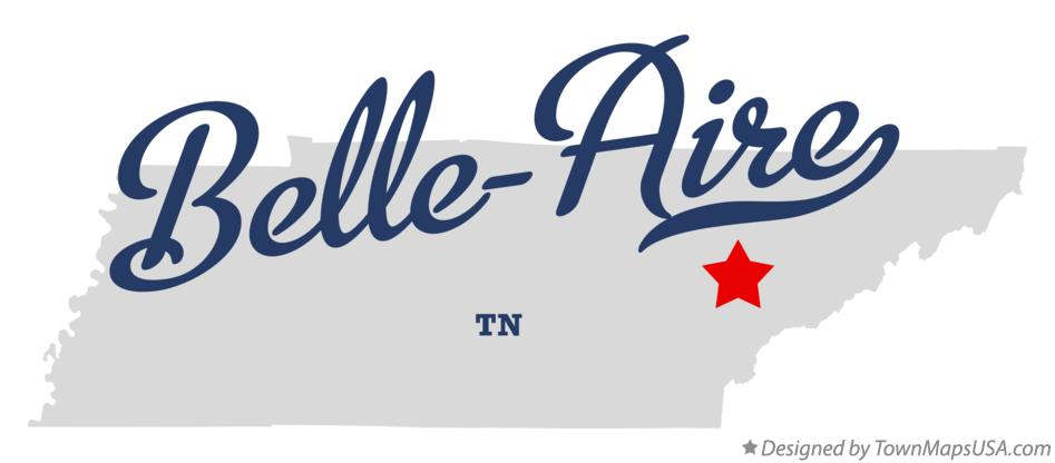 Map of Belle-Aire Tennessee TN