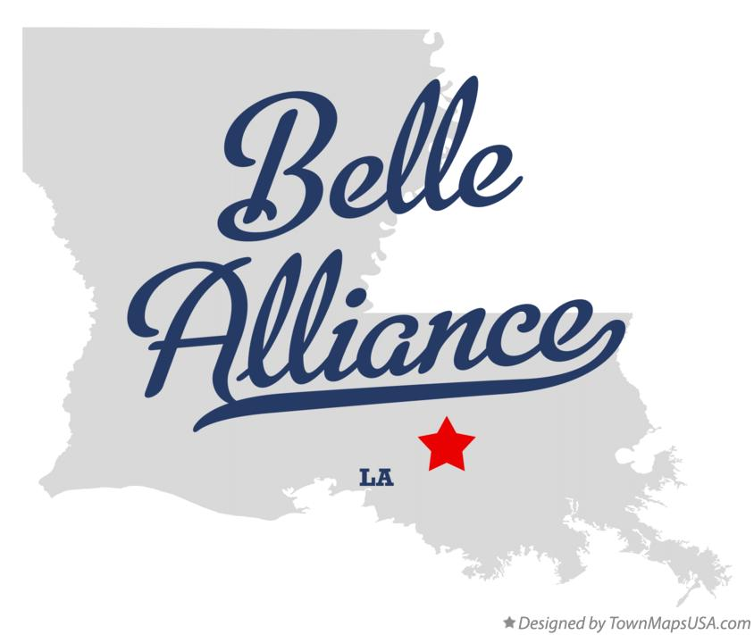 Map of Belle Alliance Louisiana LA