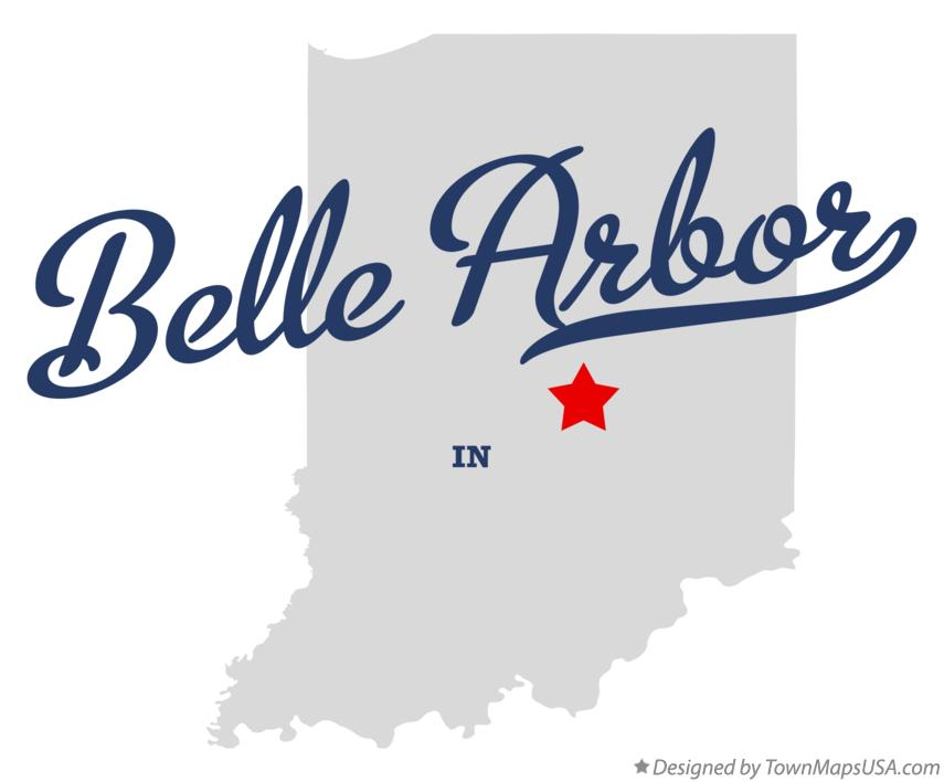 Map of Belle Arbor Indiana IN