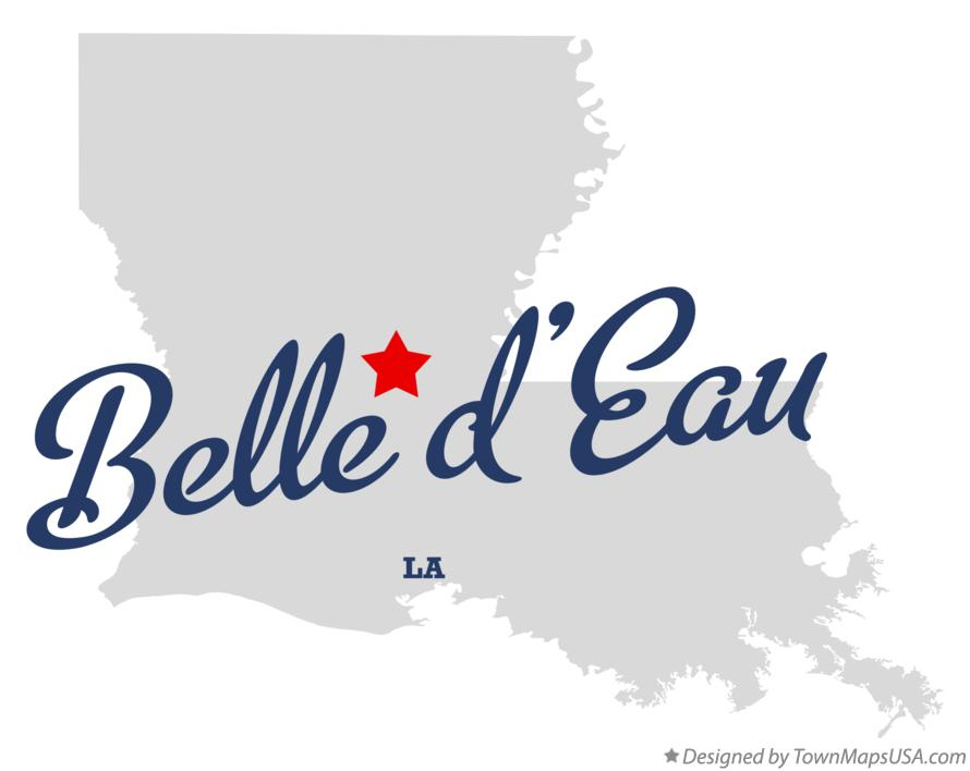 Map of Belle d'Eau Louisiana LA