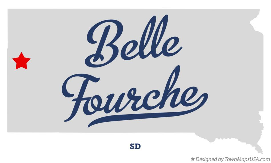 Map of Belle Fourche South Dakota SD