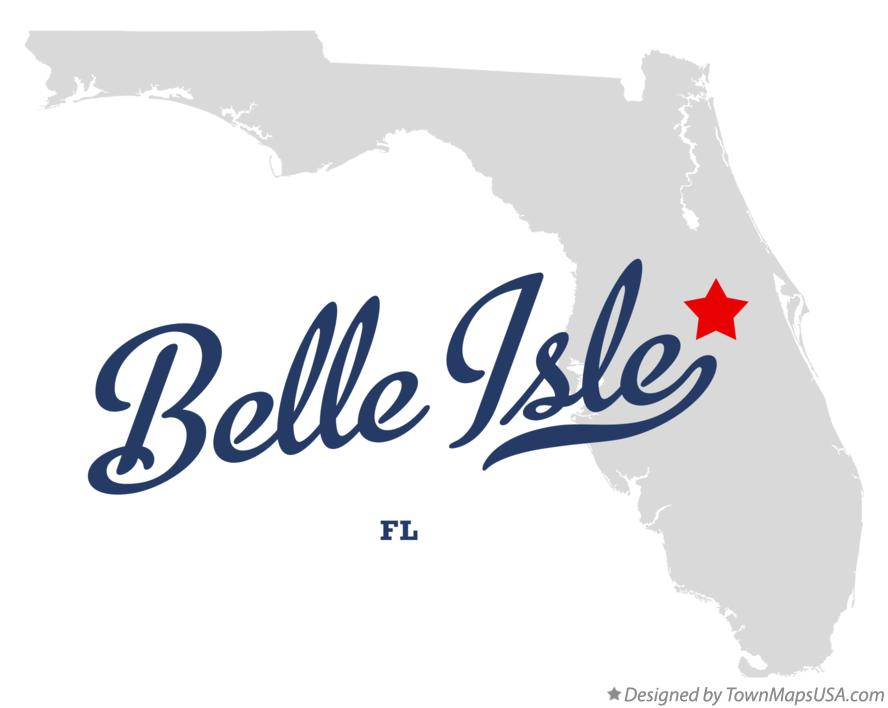 Map of Belle Isle Florida FL