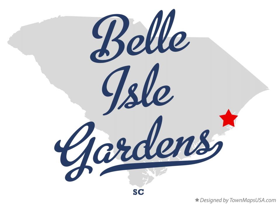 Map of Belle Isle Gardens South Carolina SC
