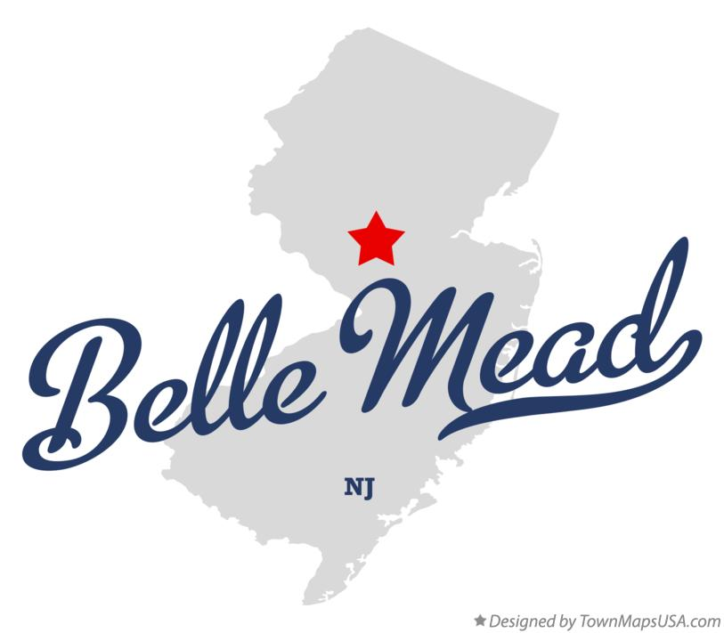 Map of Belle Mead New Jersey NJ