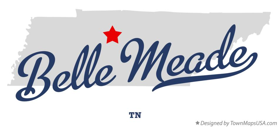 Map of Belle Meade Tennessee TN