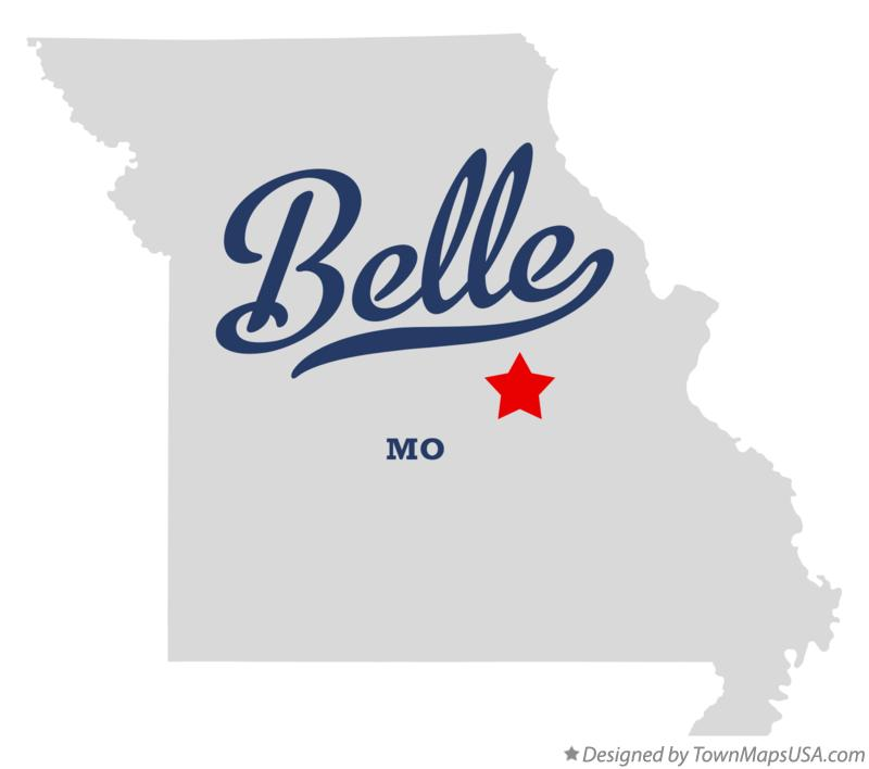 Map of Belle Missouri MO