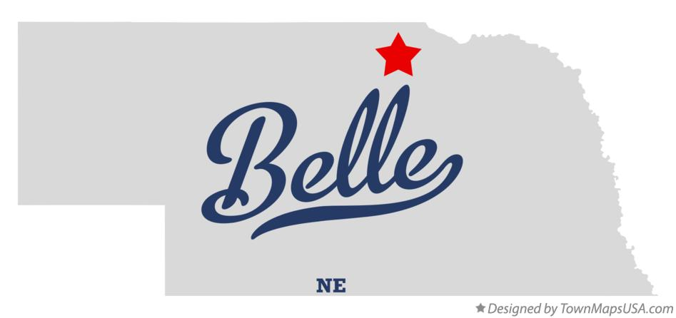 Map of Belle Nebraska NE