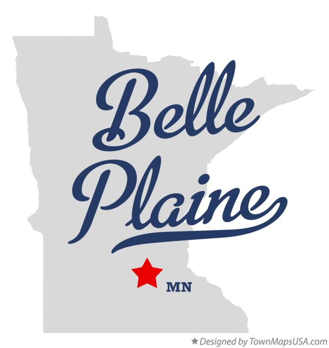 Map of Belle Plaine Minnesota MN