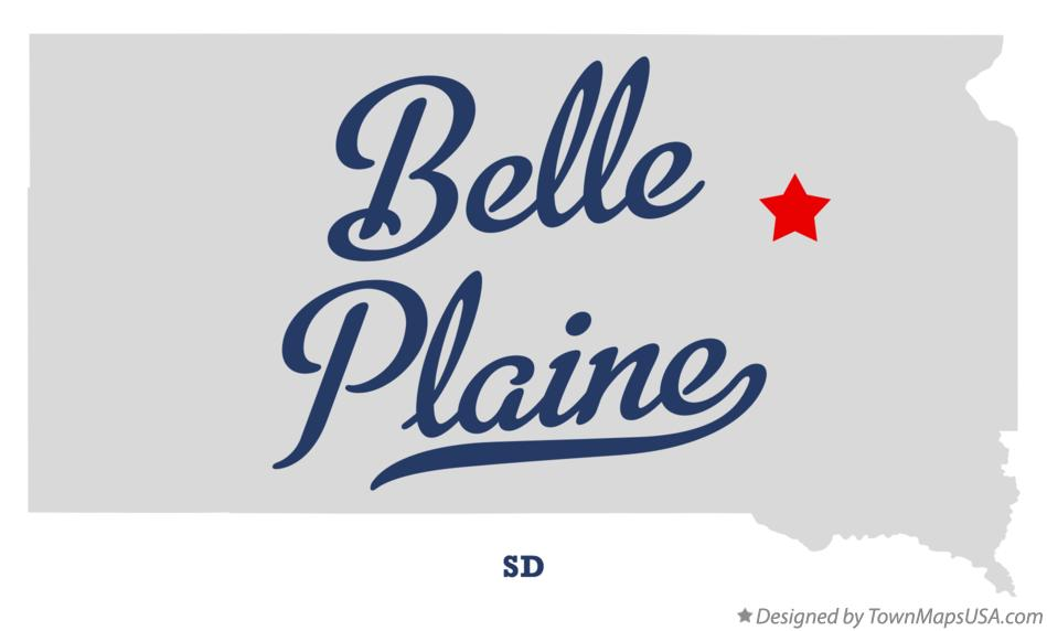 Map of Belle Plaine South Dakota SD