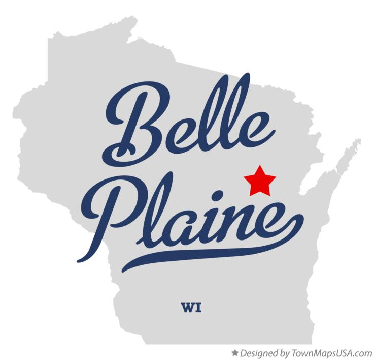 Map of Belle Plaine Wisconsin WI