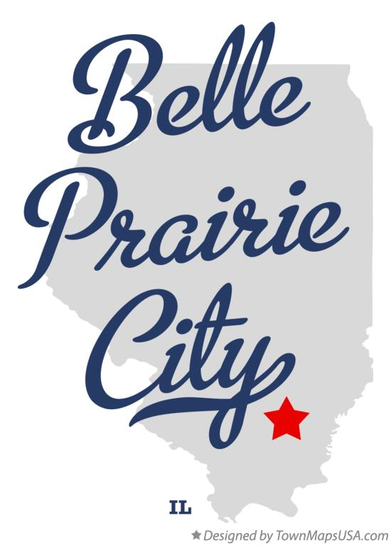 Map of Belle Prairie City Illinois IL