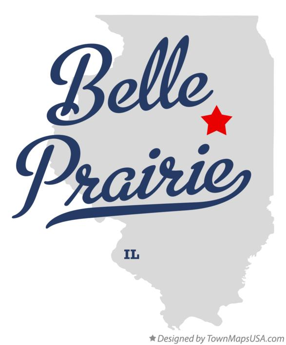 Map of Belle Prairie Illinois IL