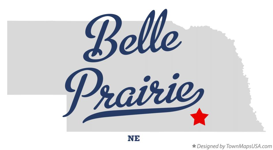 Map of Belle Prairie Nebraska NE