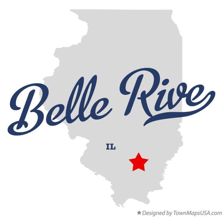 Map of Belle Rive Illinois IL
