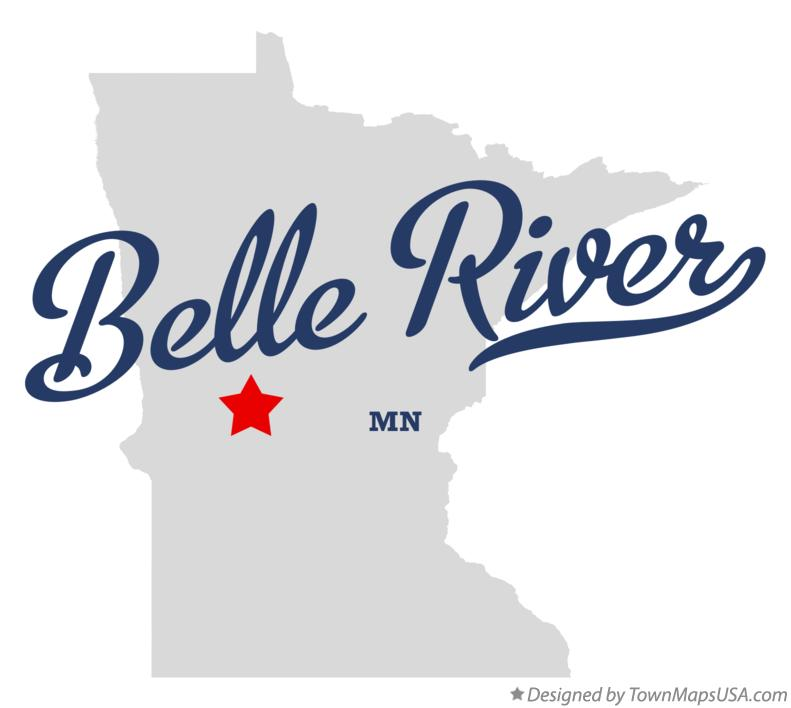 Map of Belle River Minnesota MN