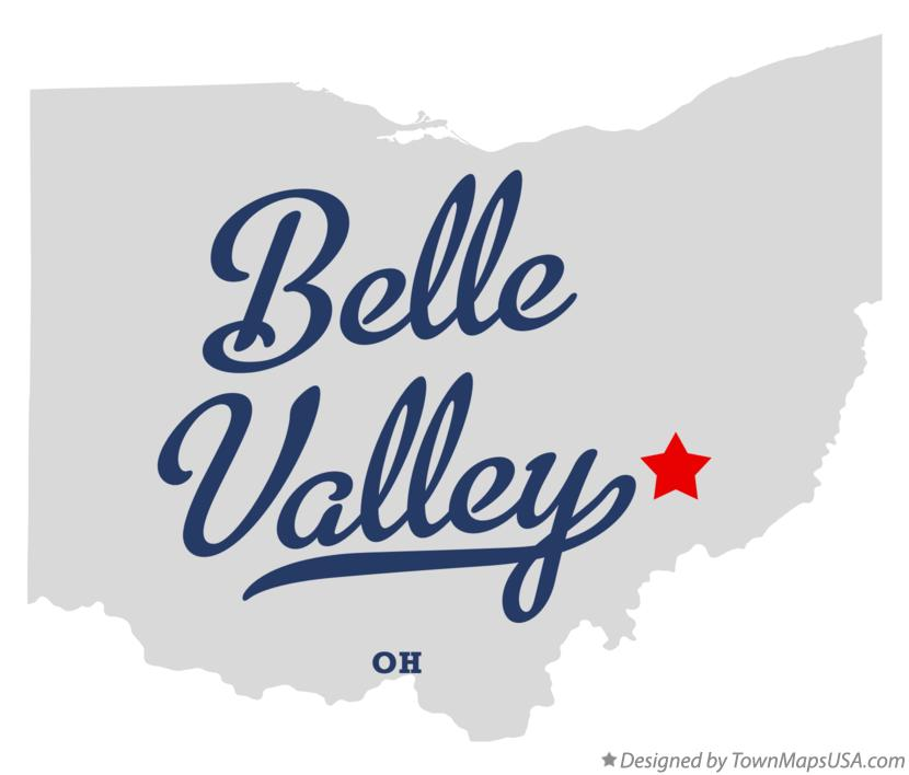Map of Belle Valley Ohio OH