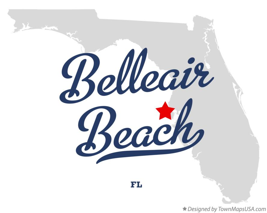 Map of Belleair Beach Florida FL