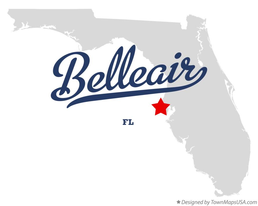 Map of Belleair Florida FL