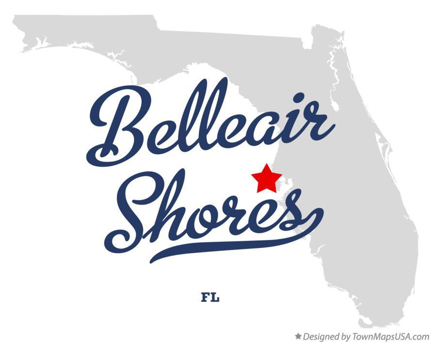 Map of Belleair Shores Florida FL