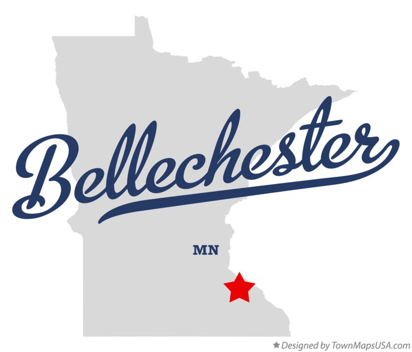 Map of Bellechester Minnesota MN