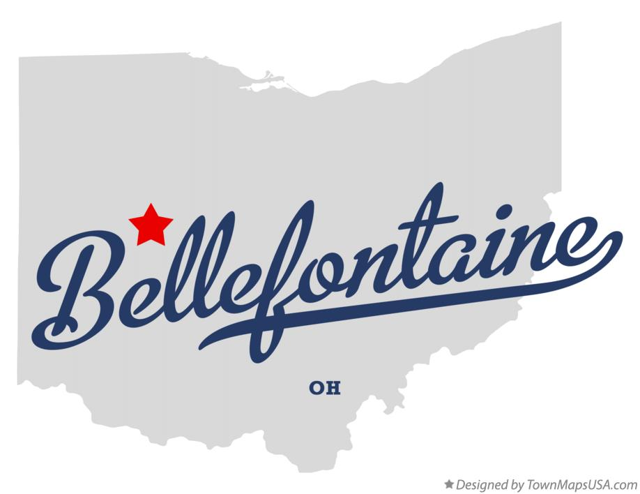 Map of Bellefontaine Ohio OH