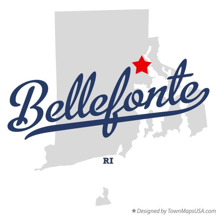 Map of Bellefonte Rhode Island RI