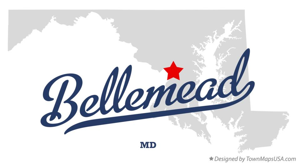 Map of Bellemead Maryland MD