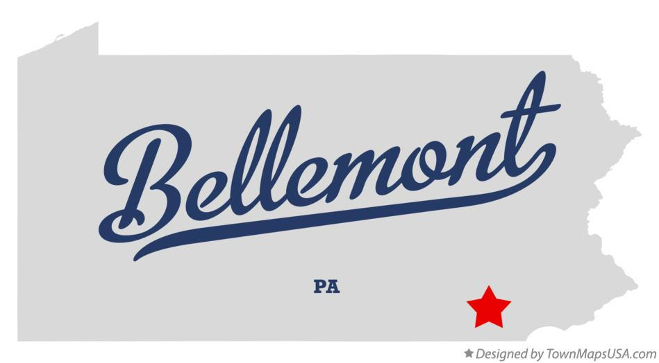 Map of Bellemont Pennsylvania PA
