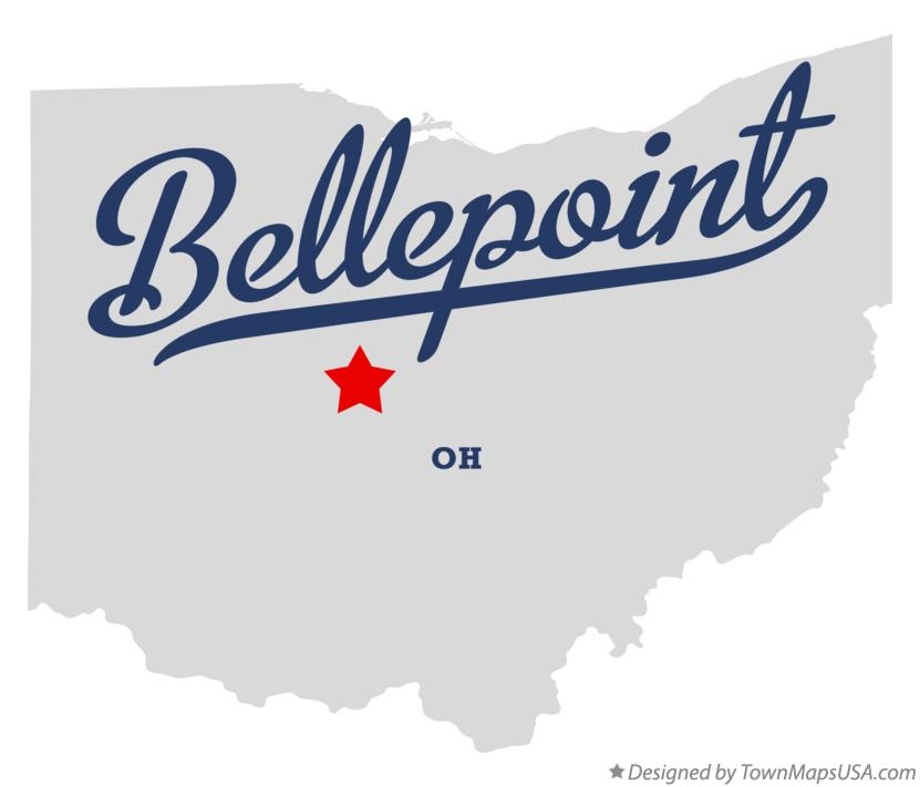 Map of Bellepoint Ohio OH