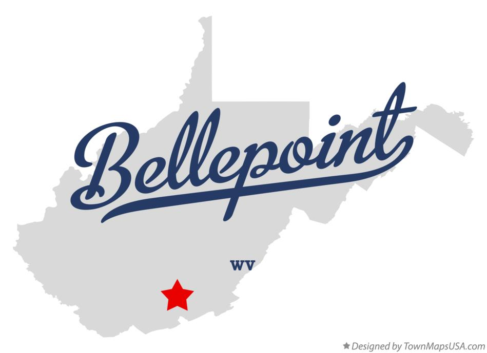 Map of Bellepoint West Virginia WV
