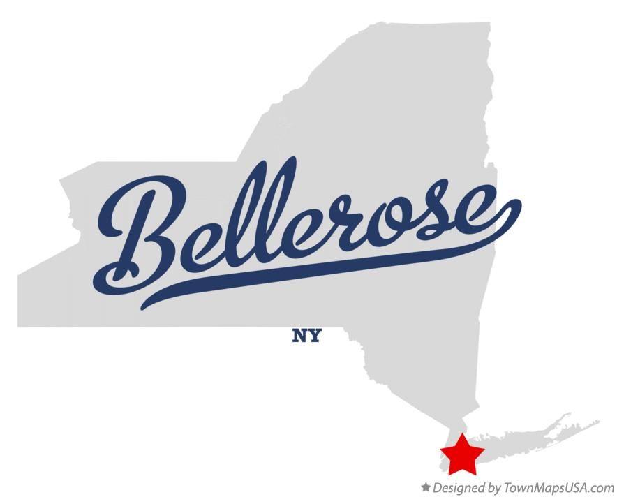 Map of Bellerose New York NY