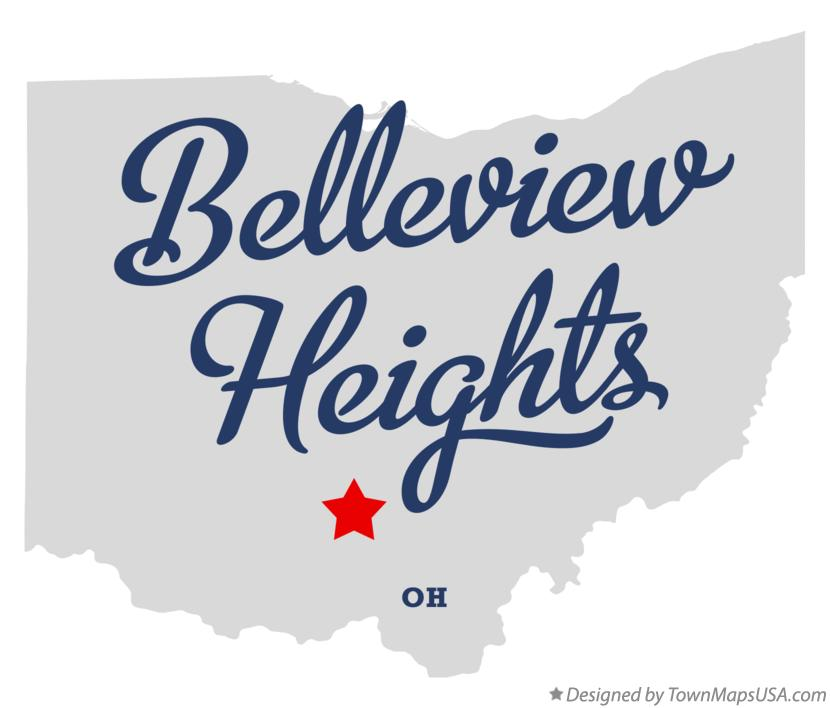 Map of Belleview Heights Ohio OH