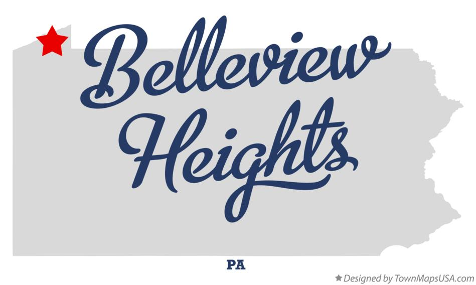 Map of Belleview Heights Pennsylvania PA