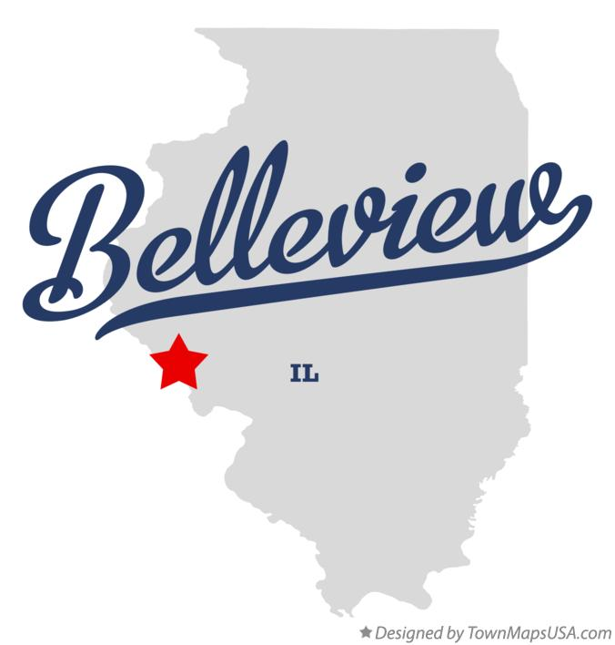 Map of Belleview Illinois IL