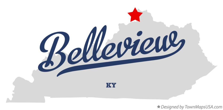 Map of Belleview Kentucky KY