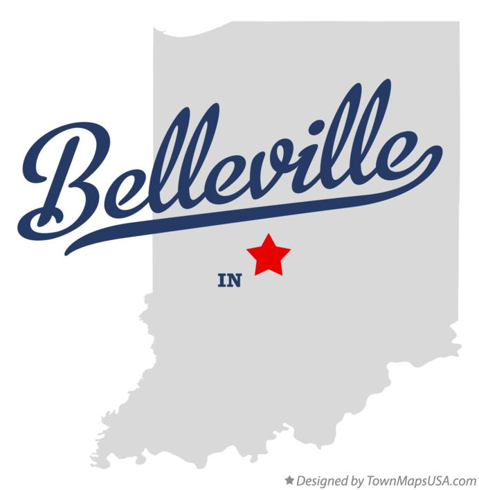 Map of Belleville Indiana IN