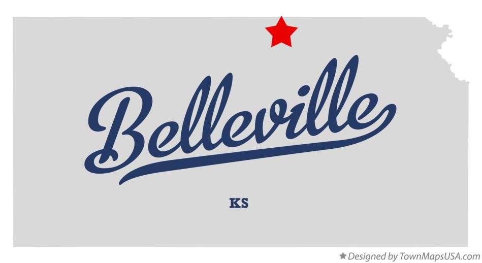 Map of Belleville Kansas KS