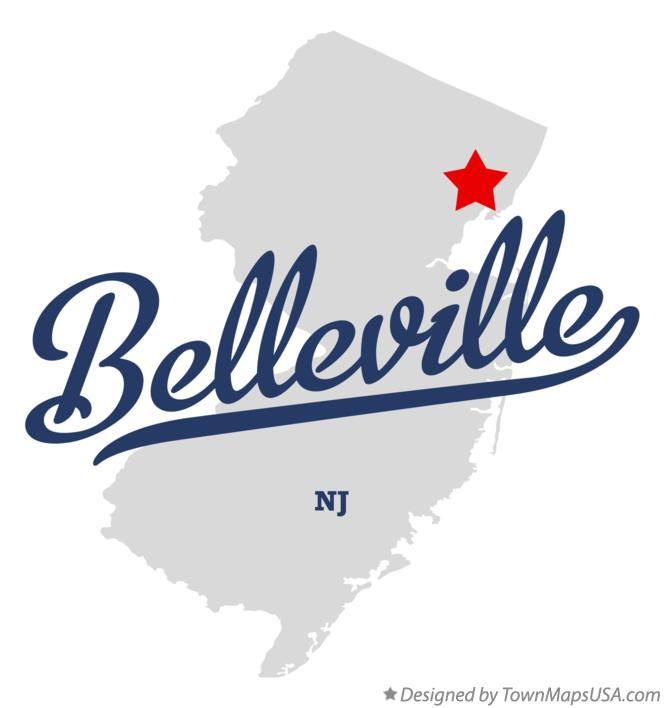 Map of Belleville New Jersey NJ