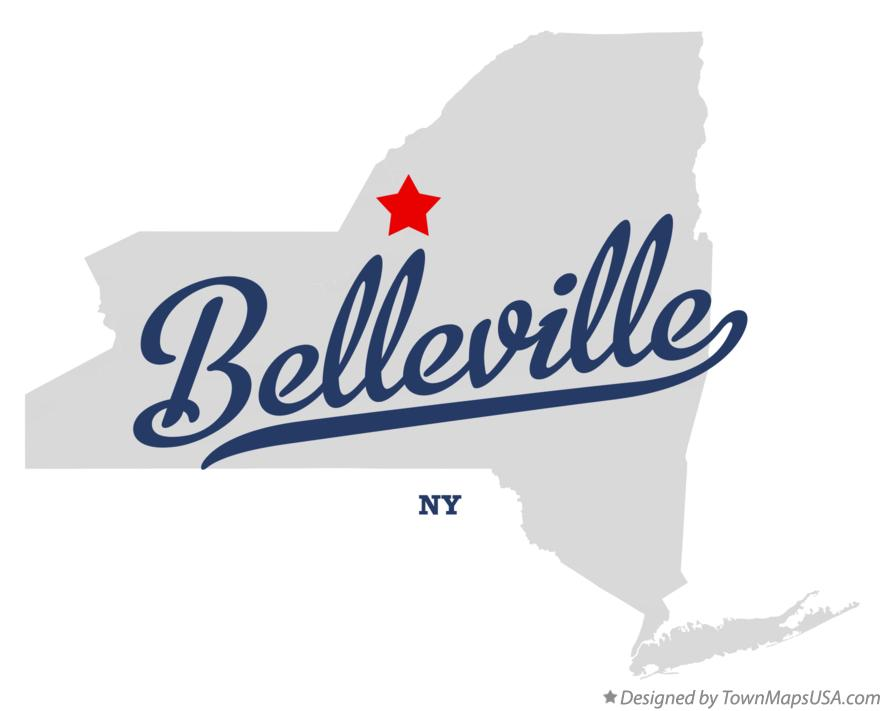 Map of Belleville New York NY