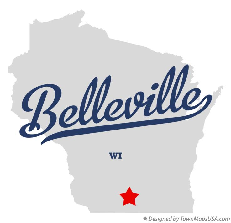 Map of Belleville Wisconsin WI