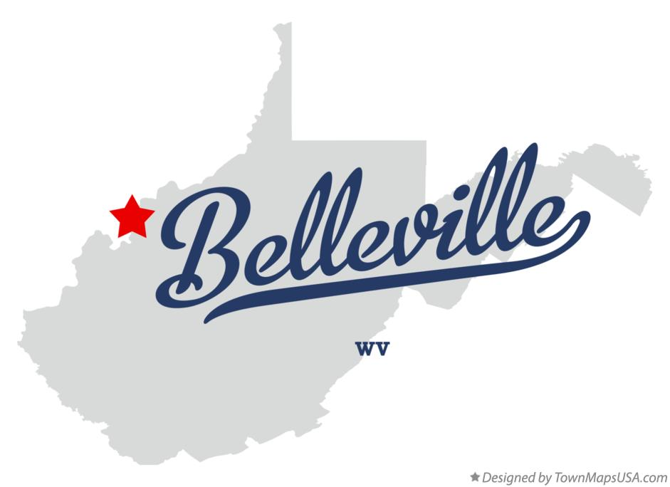 Map of Belleville West Virginia WV