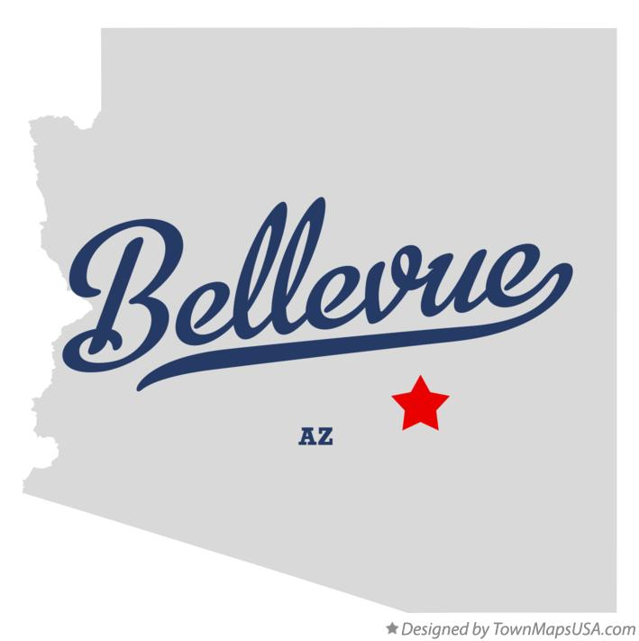Map of Bellevue Arizona AZ