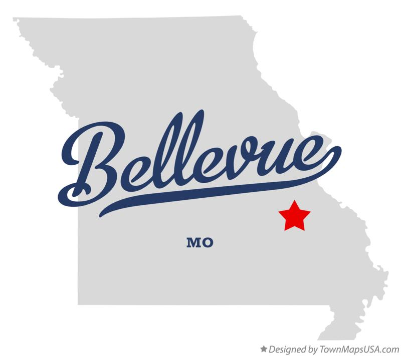 Map of Bellevue Missouri MO