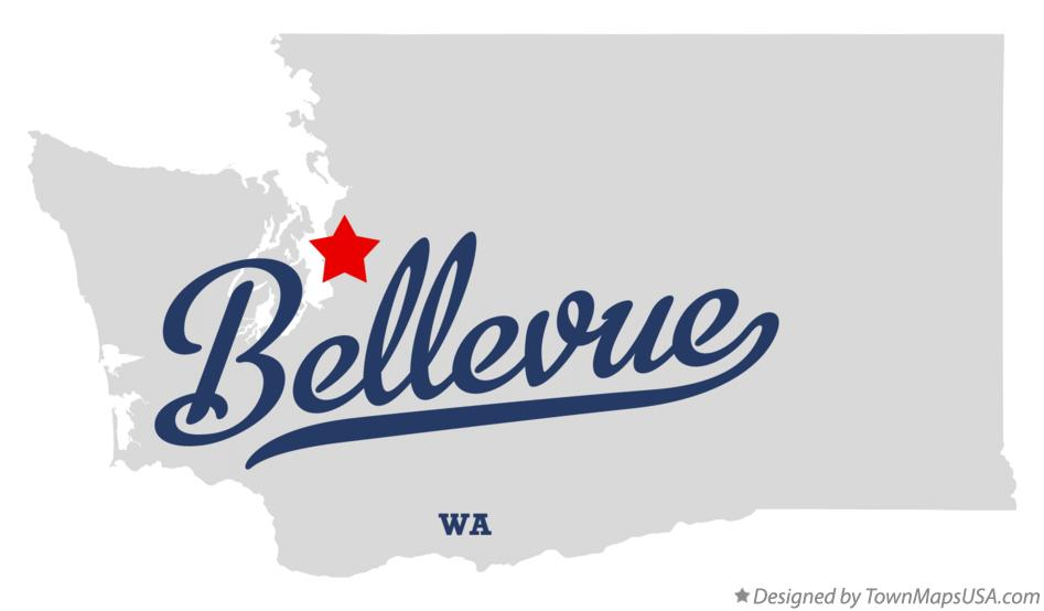 Map Of Bellevue Wa Washington