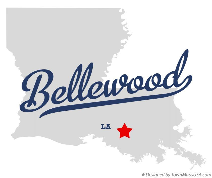 Map of Bellewood Louisiana LA