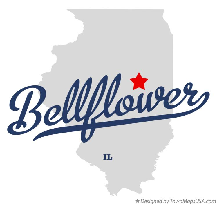 Map of Bellflower Illinois IL