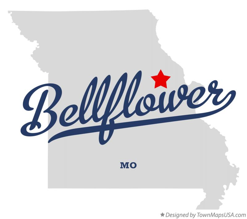 Map of Bellflower Missouri MO