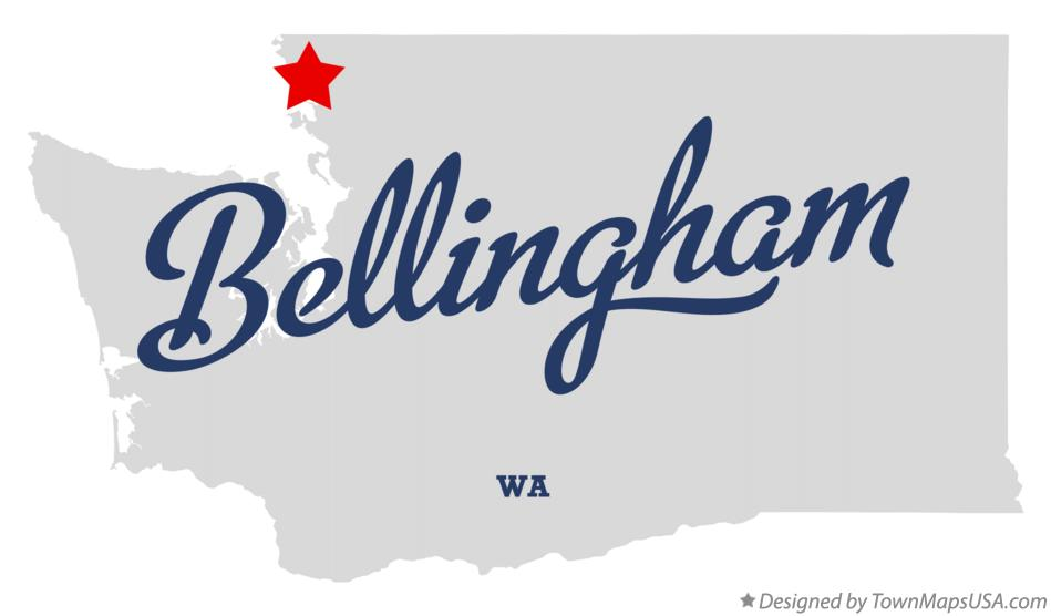 Map of Bellingham Washington WA